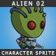 Alien 02 - The green skined alien