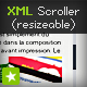 Dynamic XML text scroll bar - resizable scroller - ActiveDen Item for Sale