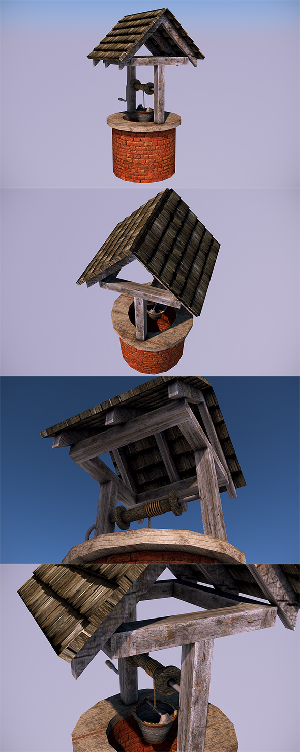 3DOcean Low Poly Water Well In-Game Objects 14071498