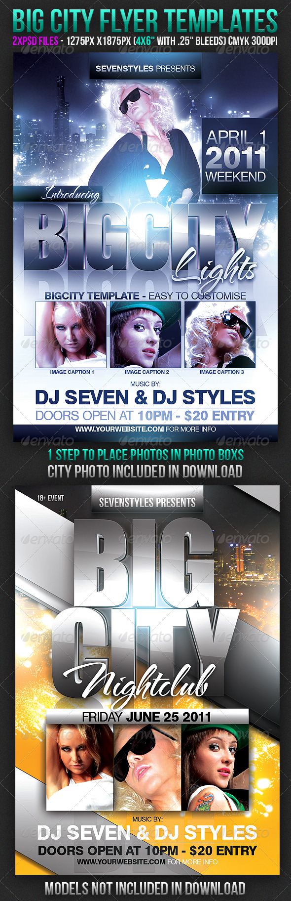 Big City Flyer Templates - Clubs & Parties Events