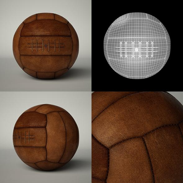 Vintage Soccer Ball - 3DOcean Item for Sale