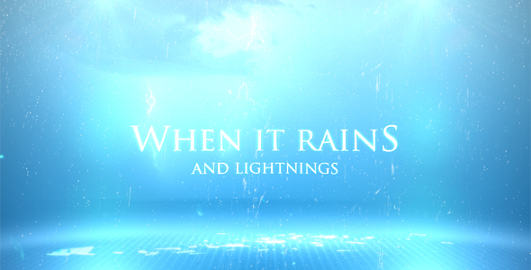 After Effects Project - VideoHive When It Rains 166869
