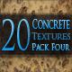 20 Concrete Textures - Pack Four