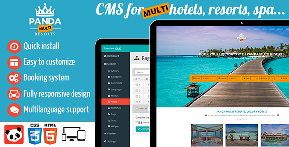Panda Multi Resorts - CMS for Multi Hotels