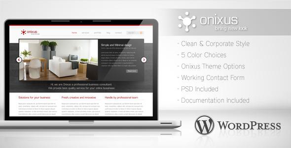 ThemeForest Onixus Corporate Business Wordpress Theme 3 147964