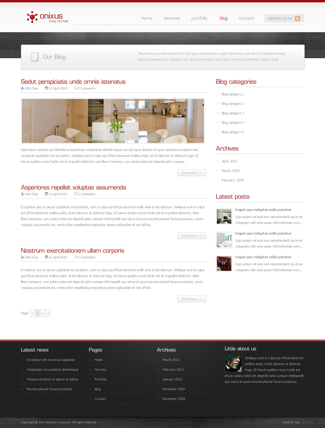 Onixus - Corporate Business Wordpress Theme 3
