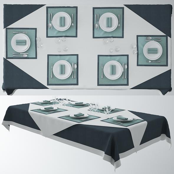 Serving Dinner Table - 3DOcean Item for Sale