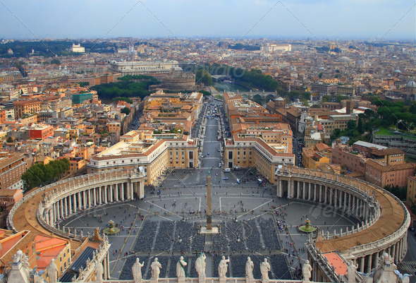 Saint Peter's Square - Stock Photo - Images