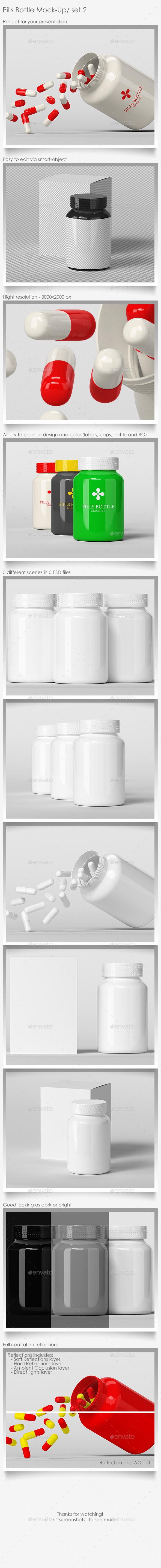 Pills Bottle Mock-Up Set.2