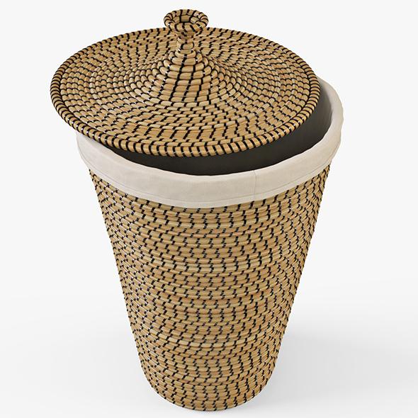 Laundry Basket IKEA Asunden - 3DOcean Item for Sale