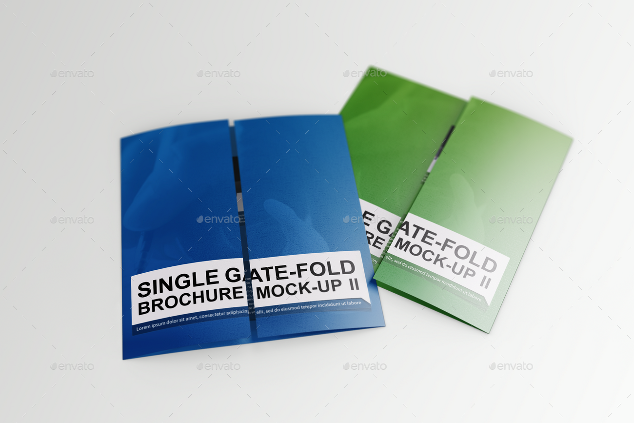 single fold brochure template - single gate fold brochure mock up 2 by massdream