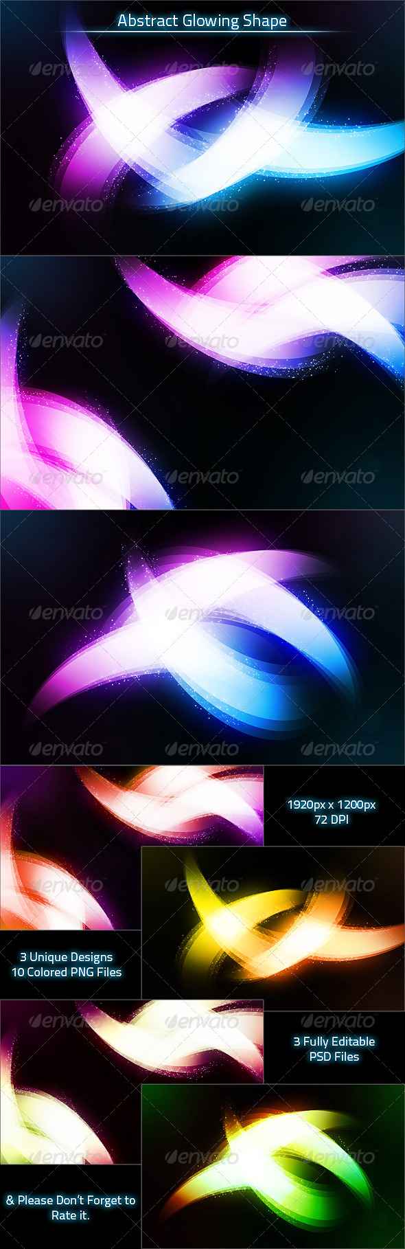 Graphic River Abstract Glowing Shape Background Graphics -  Backgrounds  Abstract 1404264