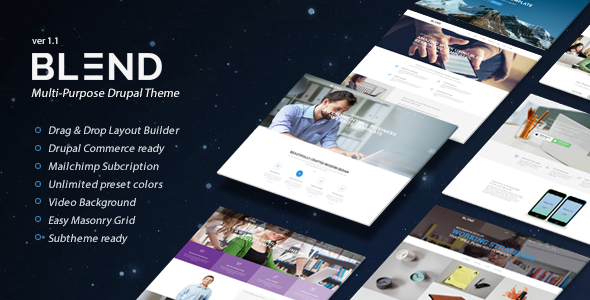 blend preview.  large preview - Blend - Multi-Purpose eCommerce Drupal Theme
