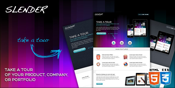 SLENDER - Take a tour landing micro site