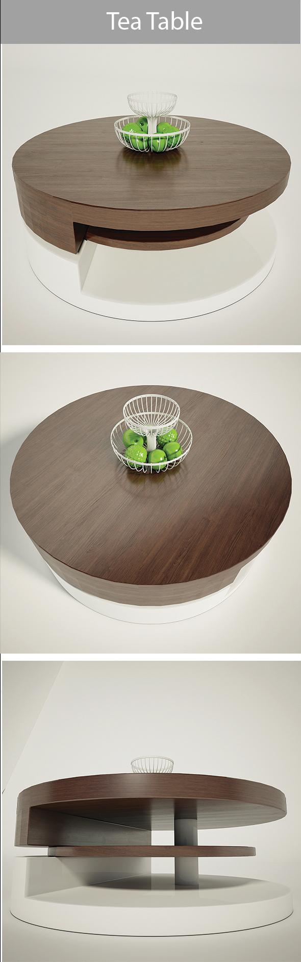 Tea Table - 3DOcean Item for Sale