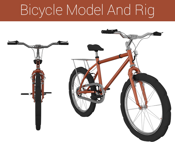 Bicycle Model And Rig - 3DOcean Item for Sale