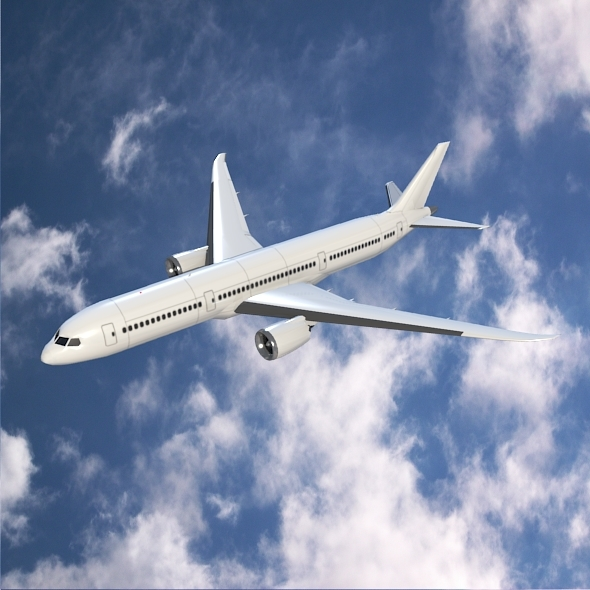 Boeing 787-9 jetliner lowpoly version - 3DOcean Item for Sale