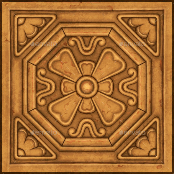 Hand Painted Ornate Panel 07 - 3DOcean Item for Sale
