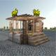 Wooden Kiosk 3D