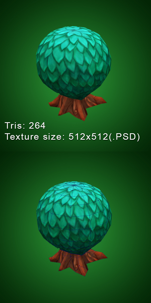 Low Poly Plant - 3DOcean Item for Sale