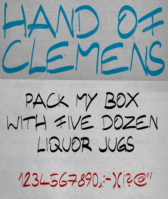 GraphicRiver Hand of Clemens 1405439