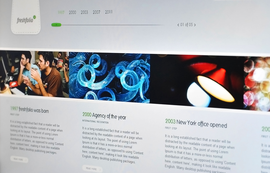 Freshfolio HTML - Portfolio showcase theme