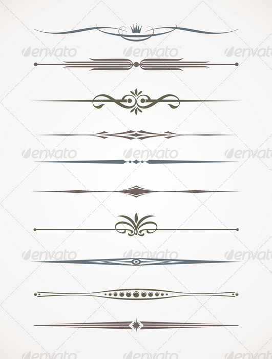 Vector Set Page Decor And Text Dividers