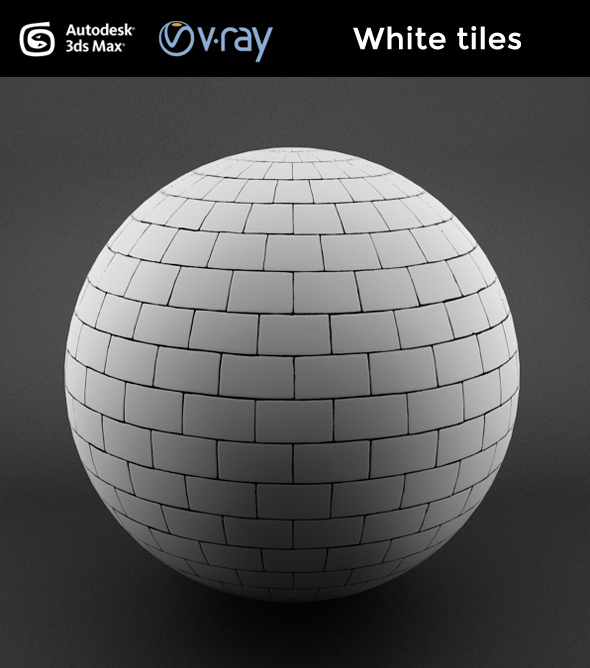 White tiles - 3DOcean Item for Sale