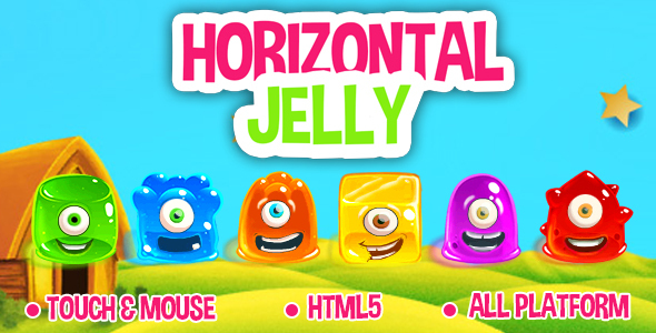 Horizontal Jelly - HTML5 game