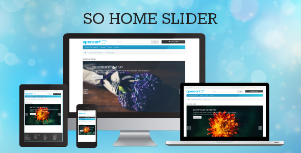 SO Home Slider - Responsive OpenCart Module