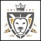 Lion Shield Crest Logo