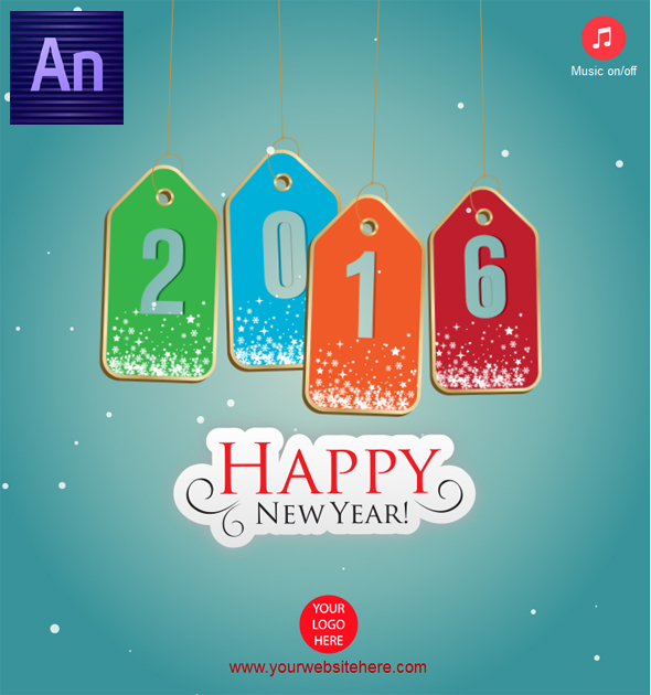 CodeCanyon Happy New Year 2016 Tag Style 14110433