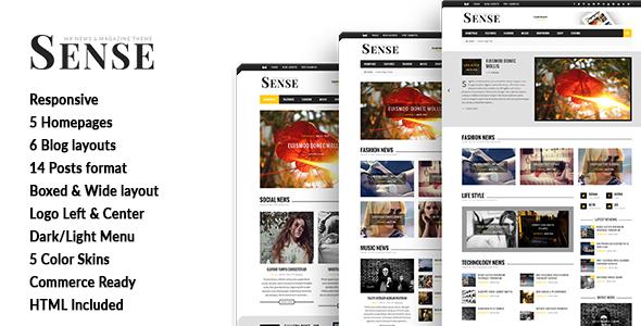 Sense - Blog Magazine & News Theme