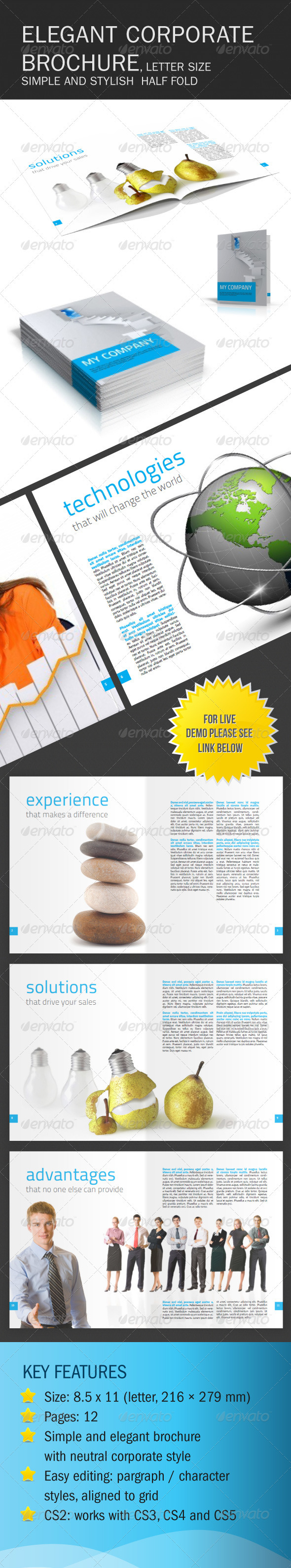 GraphicRiver Clean and Elegant Corporate Brochure 147398