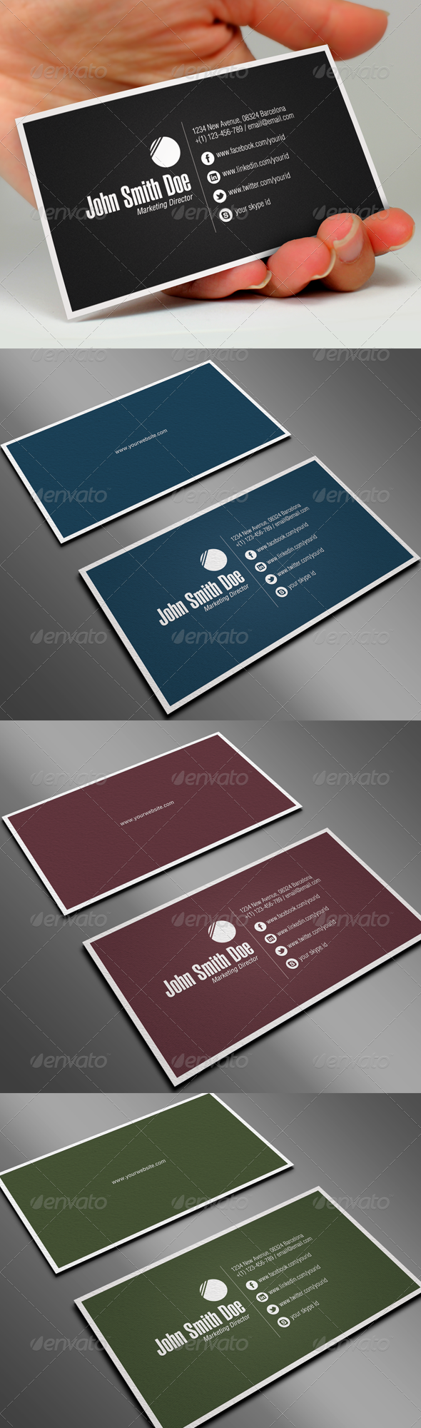 GraphicRiver Professional Business Card 1407720