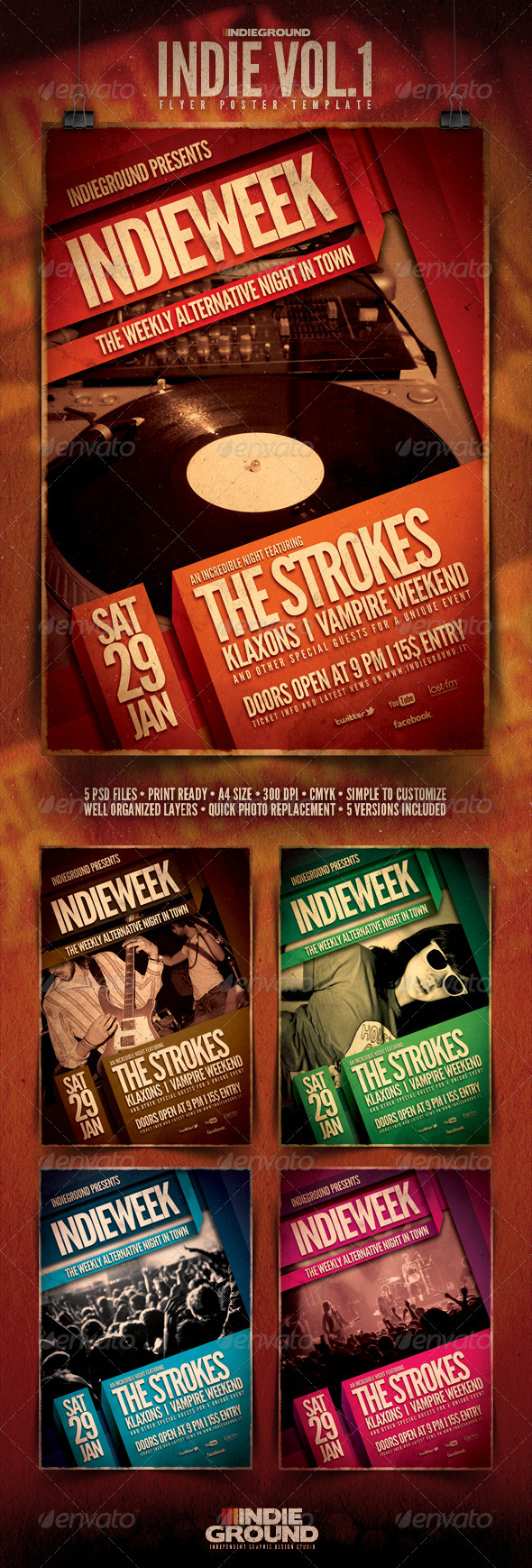 Indie Flyer/Poster - Clubs & Parties Events