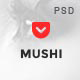 Mushi - Creative Multipurpose PSD Template