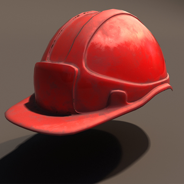 Low Poly Safety Helmet + Unity & Unreal - 3DOcean Item for Sale