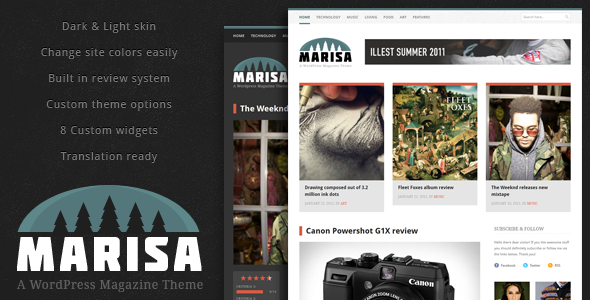 Marisa - A WordPress Magazine Theme