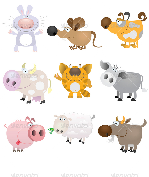 GraphicRiver Domestic Animals Set 1408672