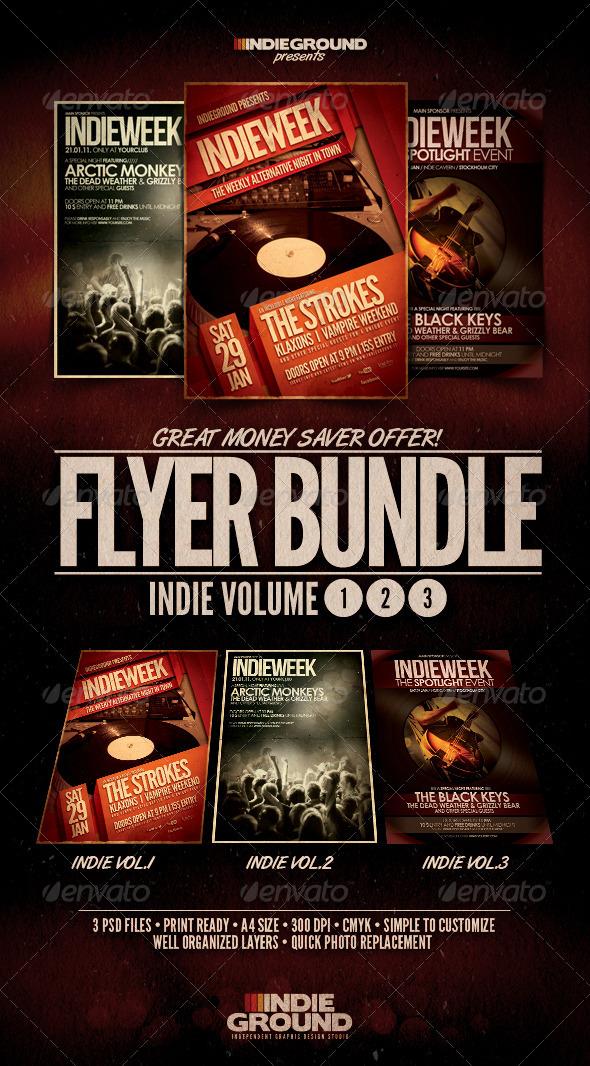 GraphicRiver Indie Flyer Poster Bundle Vol 1-3 235673