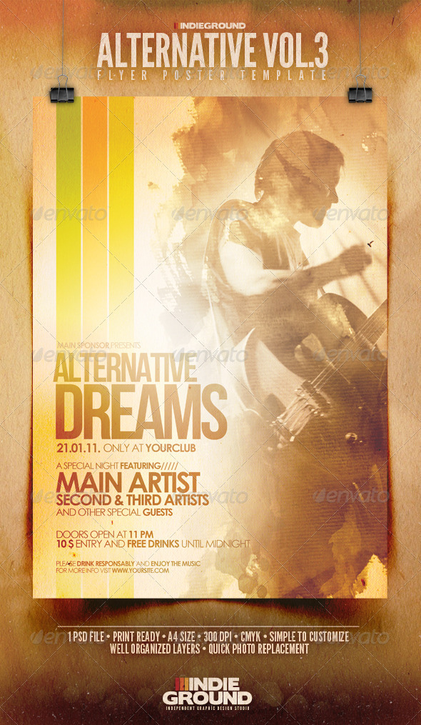 Alternative Flyer/Poster Vol. 3 - Clubs & Parties Events