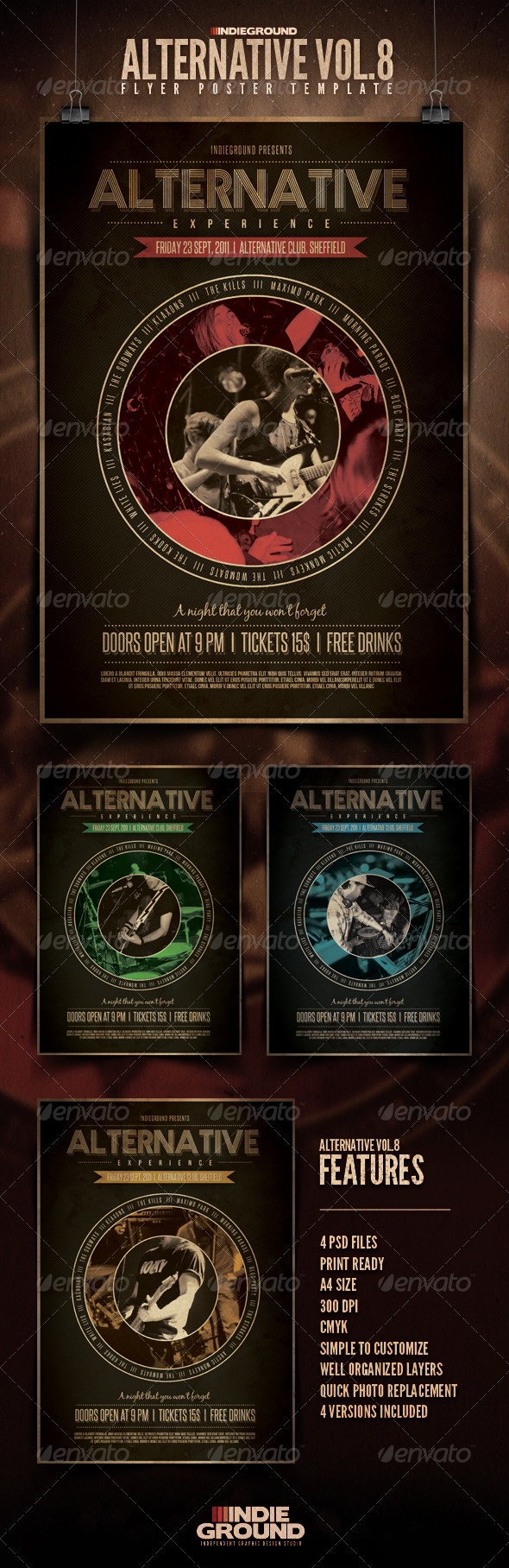 Alternative Flyer/Poster Vol. 8 - Concerts Events