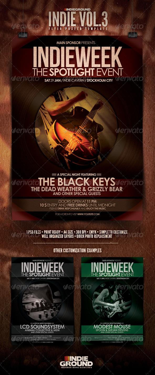 Indie Flyer/Poster Vol. 3 - Concerts Events