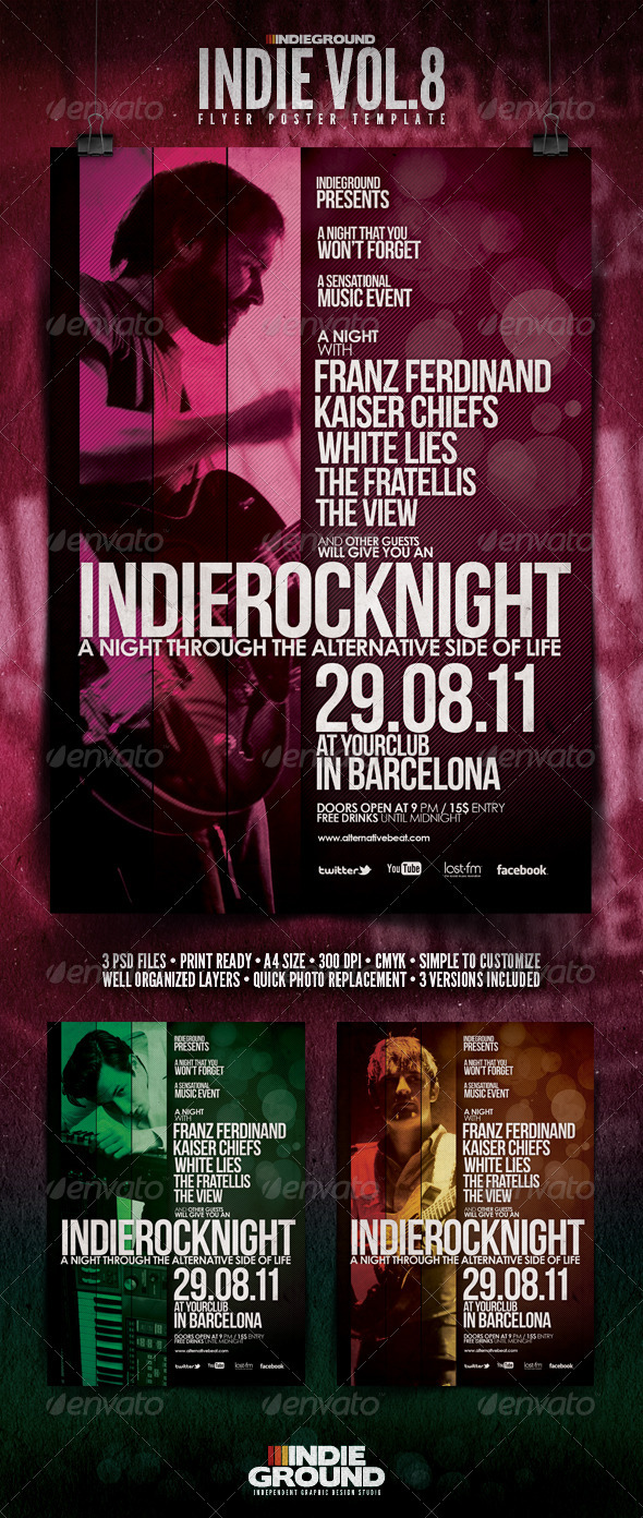 Indie Flyer/Poster Vol. 8 - Clubs & Parties Events