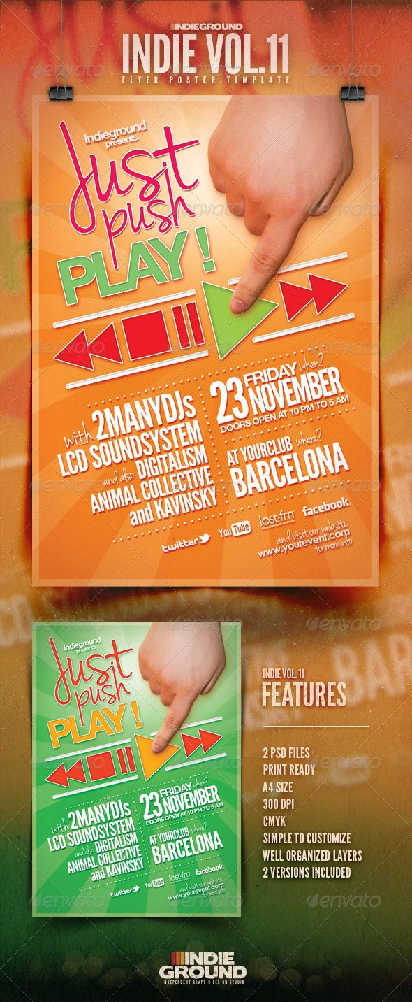 Indie Flyer/Poster Vol. 11 - Clubs & Parties Events