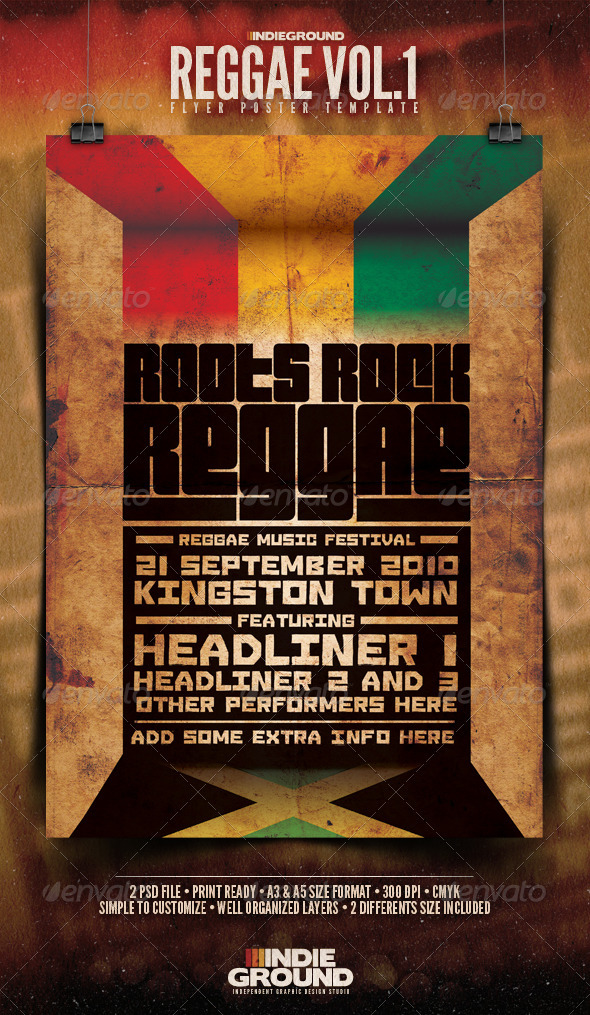 GraphicRiver Reggae Poster & Flyer 124659