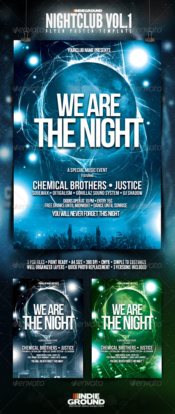 GraphicRiver Nightclub Flyer Poster 142653