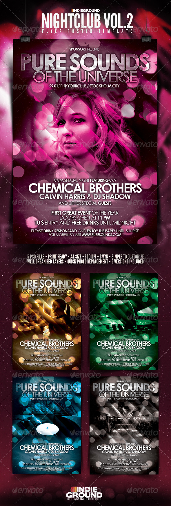 Nightclub Flyer/Poster Vol. 2 - Clubs & Parties Events