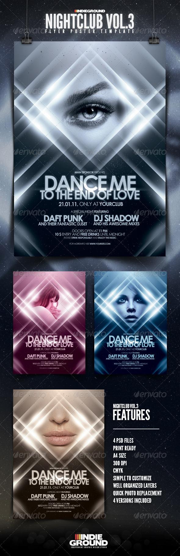 GraphicRiver Nightclub Flyer Poster Vol 3 160456